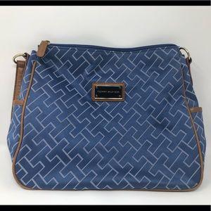 TOMMY HILFIGER Blue/Brown Handbag